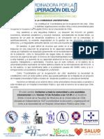DECLARACIÓN PÚBLICA COORDINADORA POR LA RECUPERACIÓN DEL JOTA