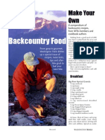 Dehydrated Food for Backpacking