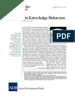 On Knowledge Behaviors