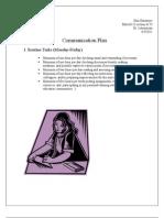 Comprehensive Communication Plan