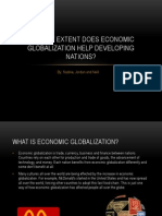 To What Extent Does Economic Globalization Help Developing