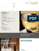 Preisliste Rollanderhof Weinausschank und Flaschenverkauf