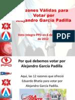 Razones Válidas para Votar por Alejandro García Padilla