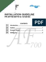 FR-AF740-EC_-_Installation_Guideline_IB(NA)-0600267-B_(05.06)