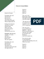 Poetry by Graeme Kilshaw