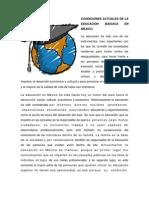 Condiciones Actuales de La Educacion Basuica en Mexico