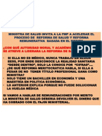 MINISTRA DE SALUD NO TIENE MERITO PROFESIONAL