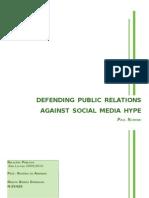 As relações públicas e os Social Media