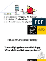 HES1610 Lecture 1-Unifying Themes in Biology