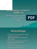 Biotechnology and Genetic Engineering