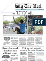 The Daily Tar Heel for October 8, 2012