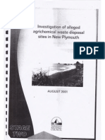 Investigation Waste Desposal in New Plymouth - August 2001