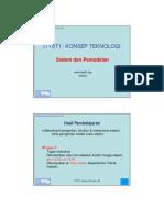 KONSEP TEKNOLOGI Sistem dan Pemodelan