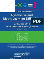 LW Dyscalculia Conference Leaflet 2013