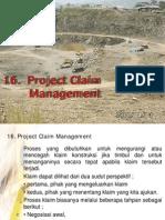 16. Project Claim Management