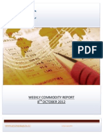 WEEKLY COMMODITY REPORT BY EPIC RESEARCH- 8 OCTOBER 2012