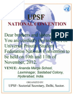 UPSF National Convention