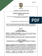 decreto_4588_de_2006 reglamenta la organización y funcionamiento de las Cooperativas y