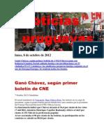Noticias Uruguayas Lunes 8 de Octubre Del 2012