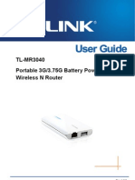 TL-MR3040 V1.0 User Guide