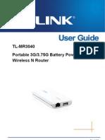 TL-MR3040 V1.0 User Guide