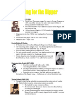 Ripper Suspects Bullet Points