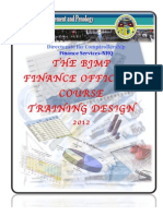 BJMP Finance Officers Course Training Design