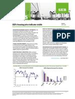 SEB's Housing Price Indicator Sweden