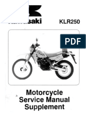 kawasaki klr 250 wiring diagram free download klr 250 supplement manual  klr 250 supplement manual
