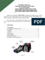 Installation Manual EPSON CISS CX DX Series