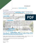 Invitation to Concourse 12