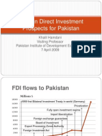 Fdi Prospects Pakistan