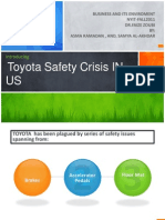 Toyota Safety Crisis -Samya Alakhdar-Business environments -NYIT