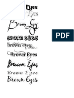 Brown Eyes - Font Ideas