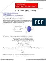 DC Motor Speed Modeling