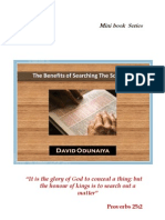 Benefits of Searching the Scriptures