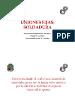 Uniones Fijas - Soldadura.