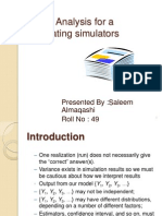 Simulation in terminated systems