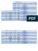 November 12 Sport Coaching Timetable
