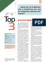 TOP-3. Trastornos de la alimentación y trastornos por uso de substáncias, ¿primos hermanos¡