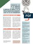 TOP-5. Efecto del tratamiento con psicosis y adicción al tabaco