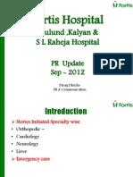 FortisHealthcare Mumbai Sept 2012 Media Coverage