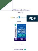 WICE CRM Zertifizierungsbericht 2011 2012