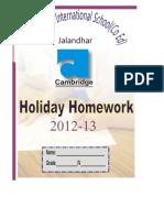 Holiday Homework IV