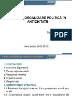 Forme de Organizare Politica in Antichitate
