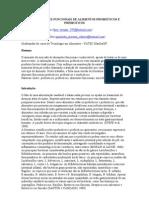 PROPRIEDADES FUNCIONAIS DE ALIMENTOS PROBITICOS E PREBIOTICOS