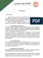 Communiqué de l'UGTT Teleperformance - 1er octobre 2012