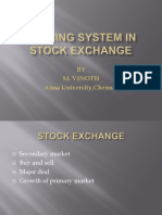 Trading System in Stock Exchange