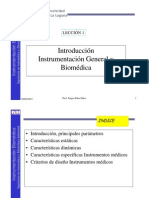 LECCIÓN 1 Introducción Instrumentación General y Biomédica