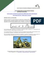 MEI 635 - Formación de Operadores de Maquinaria Pesada (Retroexcavadoras)